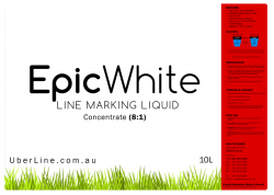 8:1, 10L White Grass Line Marking Paint