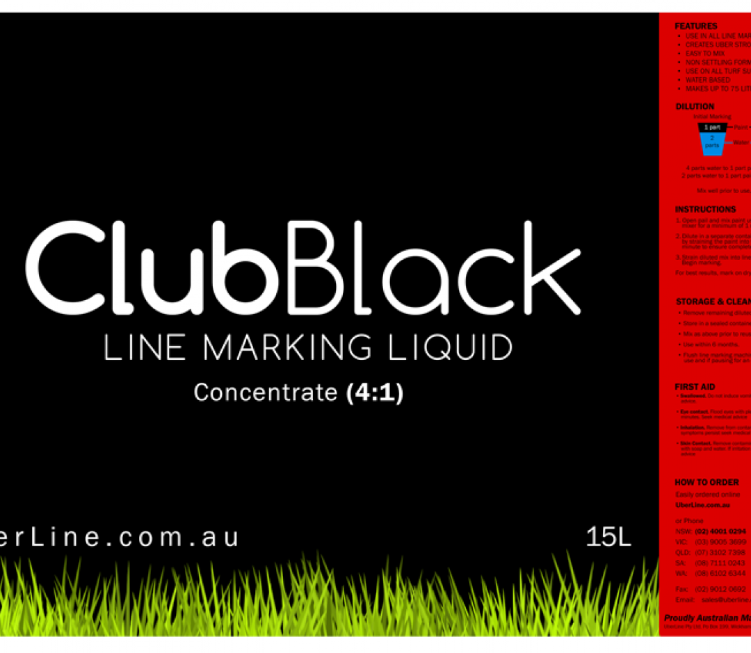 4:1,15L, Black Grass Line Marking Paint