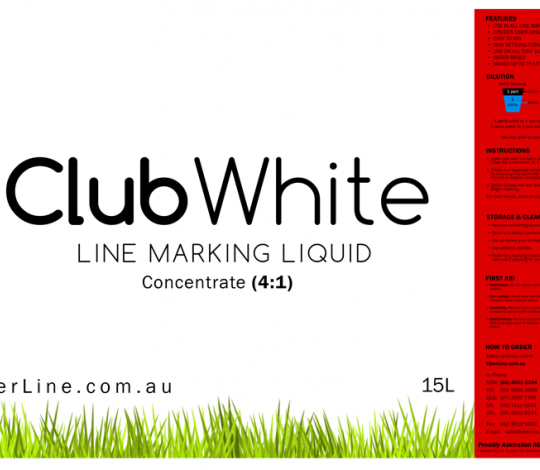 4:1, 15L, White Grass Line Marking Paint
